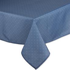 """Design Imports Tonal Lattice Outdoor Tablecloth - 60"""" x 120"""""""