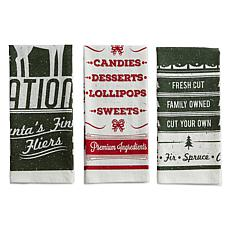 Design Imports Vintage  Flour Sack Kitchen Towel Set of 3