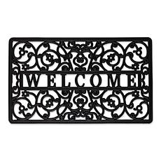 Design Imports Welcome Scroll Rubber Doormat