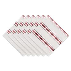 Design Imports Zig Dobby Stripe Napkin Set 6-pack