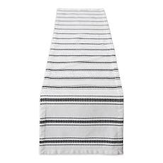 "Design Imports Zig Dobby Stripe Table Runner - 14"" x 72"""