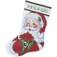 Design Works Counted Cross Stitch Kit 17 Long - Winking Santa