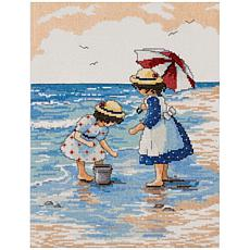 Design Works Counted Cross Stitch Kit 9X12 - Gathering Shells (14 C...