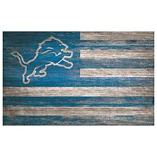Detroit Lions Distressed Flag 11x19