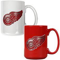 Detroit Redwings 2pc Coffee Mug Set