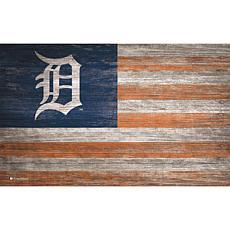 Detroit Tigers Distressed Flag 11x19