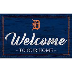 """Detroit Tigers Team Color Welcome Sign - 11x19"""""""
