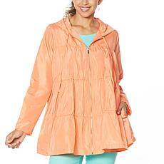 DG by Diane Gilman Water-Resistant Tiered Raincoat