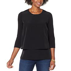 DG2 by Diane Gilman 3/4-Sleeve Easy Top