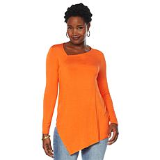 DG2 by Diane Gilman Asymmetric Knit Top