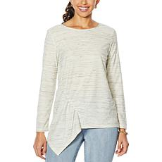 DG2 by Diane Gilman Asymmetric Striped Top