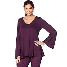 DG2 by Diane Gilman Bell-Sleeve Top with Gusseted Sides