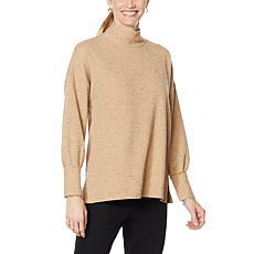 DG2 by Diane Gilman Bishop-Sleeve Oversized Turtleneck Sweater