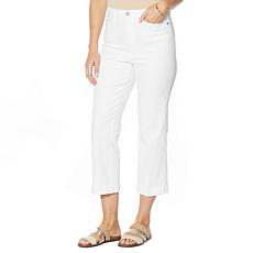 DG2 by Diane Gilman Cavalry Twill Cropped Trouser Jean
