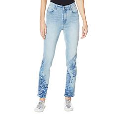 DG2 by Diane Gilman Classic Stretch Artwork Printed Jean - Basic