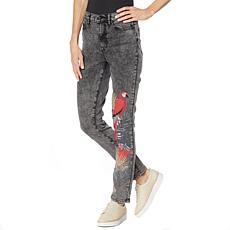 DG2 by Diane Gilman Classic Stretch Embellished Skinny Jean