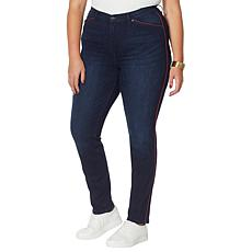 DG2 by Diane Gilman Classic Stretch Piped Skinny Ankle Jean