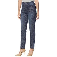 DG2 by Diane Gilman Classic Stretch Pull-On Printed Skinny Jean