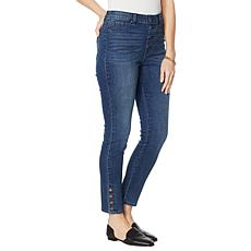 DG2 by Diane Gilman Classic Stretch Side Snap Ankle Jean  - Basic