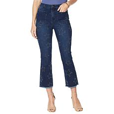 DG2 by Diane Gilman Classic Stretch Star Needle Punch Cropped Jean