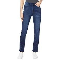 DG2 by Diane Gilman Classic Stretch Studded Jean