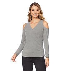 DG2 by Diane Gilman Cold-Shoulder Crossover Top