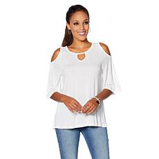 2ac5183b7b124 DG2 by Diane Gilman Cold-Shoulder Keyhole Top ...