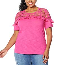 DG2 by Diane Gilman Crochet and Ruffle Top