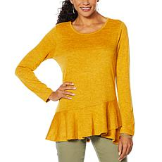 DG2 by Diane Gilman Crossover Peplum Top