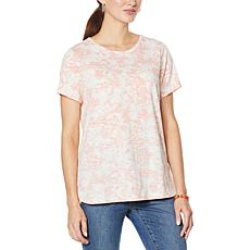 "DG2 by Diane Gilman ""DG Downtime"" Reverse Side Printed Tee"