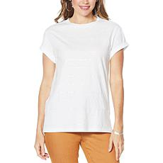 DG2 by Diane Gilman Embellished Cuff-Sleeve Top