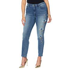 DG2 by Diane Gilman Embellished Distressed Skinny Jean