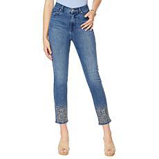 DG2 by Diane Gilman Embellished Skinny Ankle Jean    - Basic