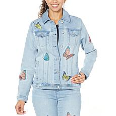 DG2 by Diane Gilman Embroidered Signature Jacket