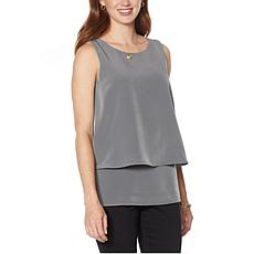 DG2 by Diane Gilman Mixed Media Layered Easy Tank