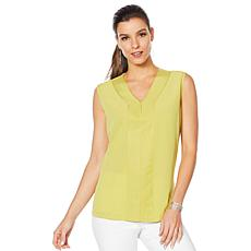DG2 by Diane Gilman Mixed Media V-Neck Shell