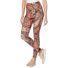 DG2 by Diane Gilman Moss Jersey Knit Tummy Smoothing Print Legging