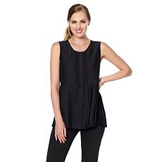 DG2 by Diane Gilman Pintuck Pleated Tank