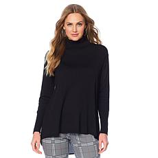 DG2 by Diane Gilman Quad Blend Turtleneck w/Woven Back
