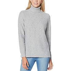 DG2 by Diane Gilman Sequin Front Turtleneck Sweater
