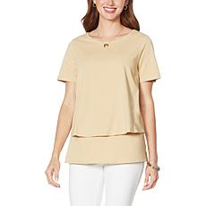 DG2 by Diane Gilman Short-Sleeve Easy Knit Top