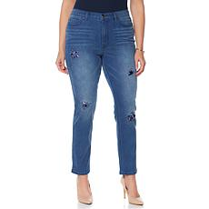DG2 by Diane Gilman Star Patch and Stud Skinny Jean