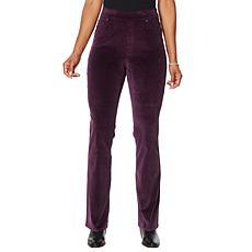 DG2 by Diane Gilman Stretch Velvet Pull-On Boot-Cut Jean - Fashion