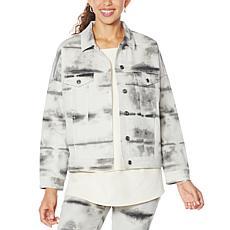 DG2 by Diane Gilman Tie Dye Printed Boxy Jacket