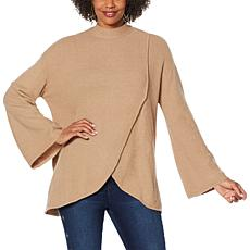 DG2 by Diane Gilman Tie Neck Tulip-Hem Sweater