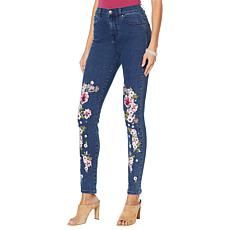 DG2 by Diane Gilman Virtual Stretch Anniversary Printed Jean