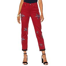 DG2 by Diane Gilman Virtual Stretch Embroidered Star - Fashion