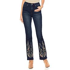 DG2 by Diane Gilman Virtual Stretch Morocco Embroidered Boot-Cut Jean