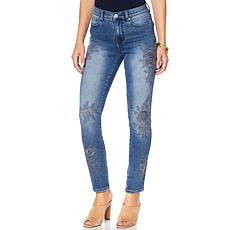 DG2 by Diane Gilman Virtual Stretch Tonal Embroidered Jean - Basic