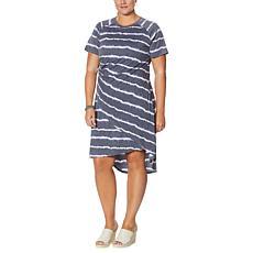 DG2 by Diane Gilman Wrap Front Hi-Low Hem Dress